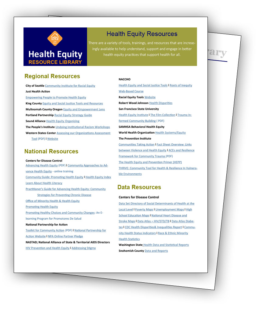 Equity Resources: Center For Health Education & Healing