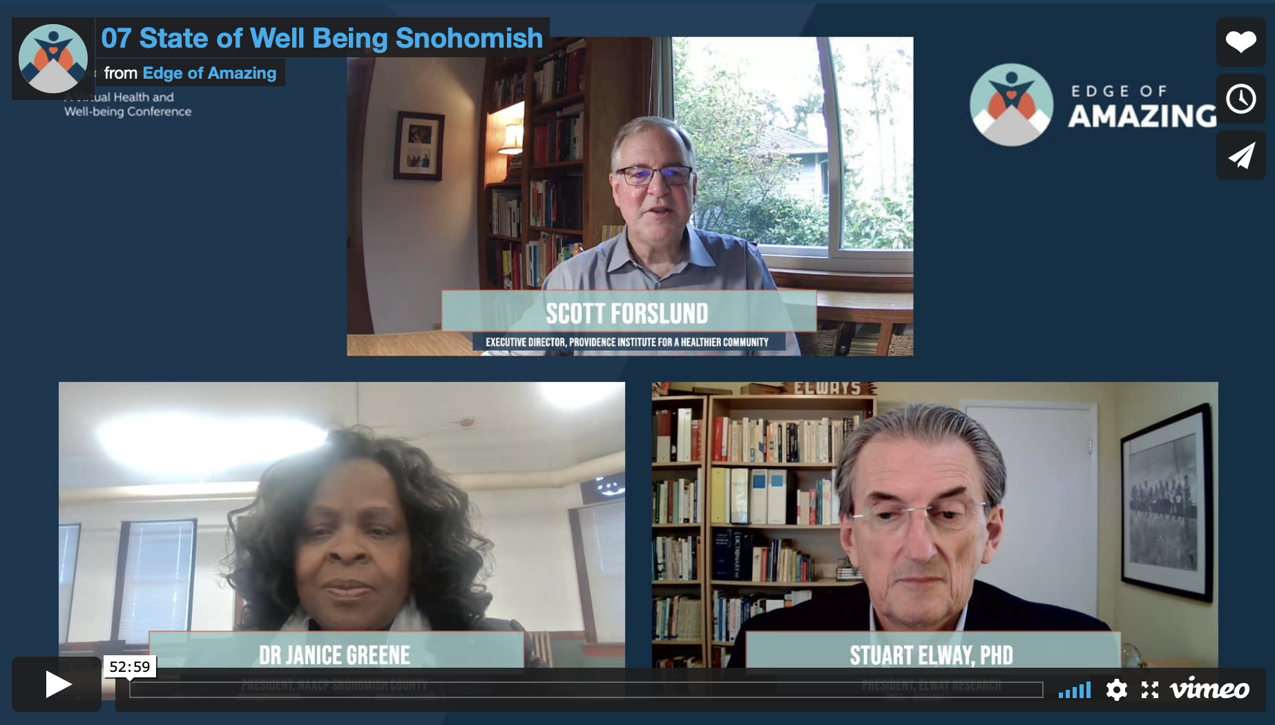 Well Being Snohomish zoom call